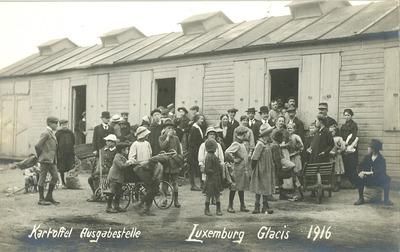 Postkarten zur Kartoffelausgabe in Luxemburg-Stadt 1916