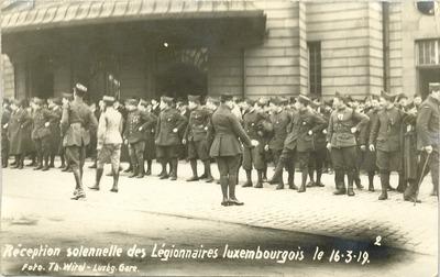 Entrée des légionnaires luxembourgeois à Luxembourg, 1919