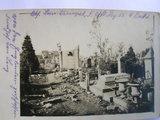 Zerschossener Friedhof im belgischen Kriegsgebiet