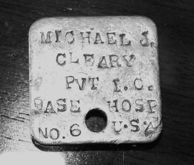 My Grandfather's army dog tag.