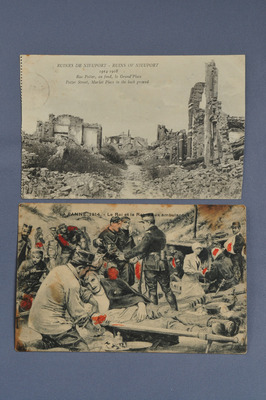Littoral belge en cartes postales