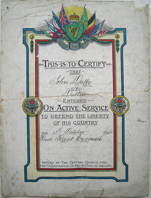 Enlistment Certificate