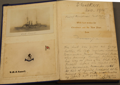 "Inscribed Book ""Naval Occasions"", belonging to Engineer Lt. James Mansergh Walker"