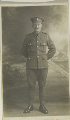 Photograph of Michael Murphy of the Royal Garrison Artillery