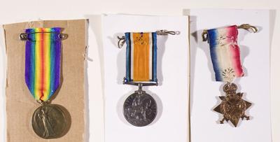 Service medals of E Devitt