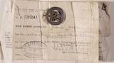 War badge belonging to Francis Hamilton