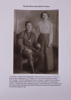 Photograph of Thomas Myers and Annie O'Connor
