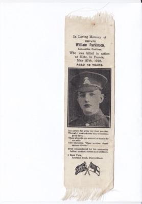 William Parkinson, Lancashire Fusilier