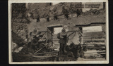 Postkarte - Patrouille in Ostpreußen