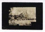 Postkarte Soldaten und Kanone