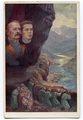 Borojević in Gregorčič ob Soči (razglednica)