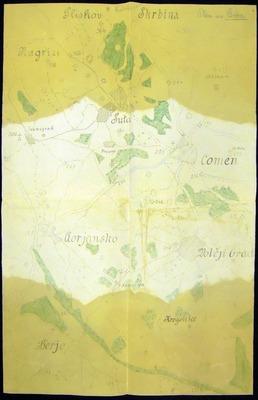 Skica območja zaledja na komenskem krasu