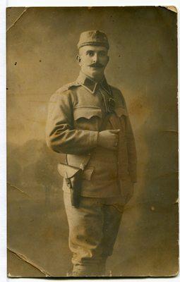 Razglednica avstrijskega vojaka