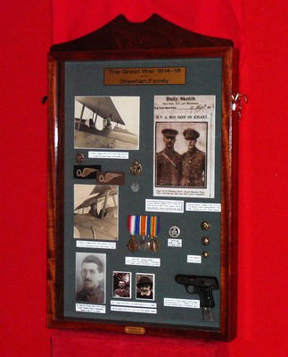 Sheehan O'Connor family WWI Collection, Museum Display Case