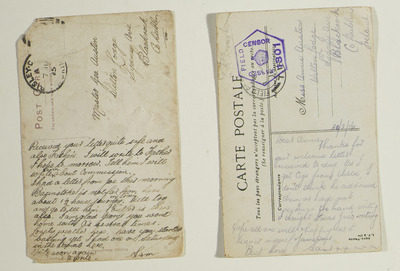 Postcards from Samuel Austen home to Blackrock, Dublin