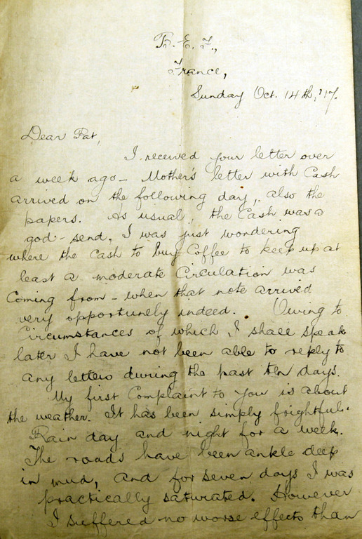 Europeana 1914 1918 Letters Home to Dublin from World War I