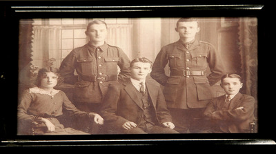 Photograph of the Three Hourihane Brothers Who Served in WW1