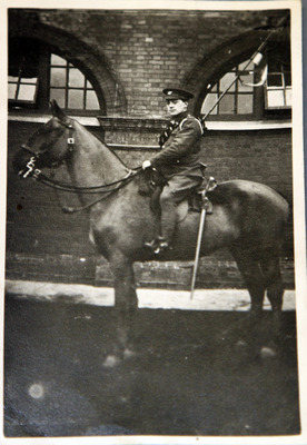 Photograph of Patrick Brennan of Sandyford Dublin on horseback