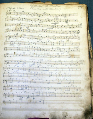 Music book of the grandfather of Phil B. Butler, who was a soldier in Royal Dublin Fusiliers