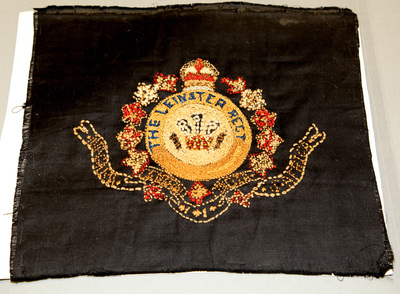 Embroidery, Leinster Regiment Badge, by J. Finegan