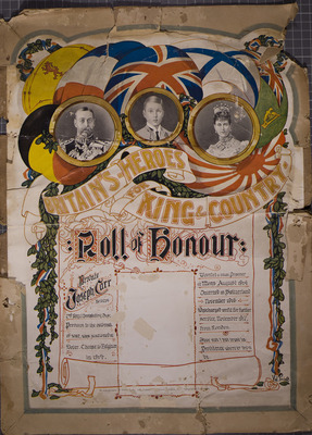Roll of Honour for Joseph Carr, POW