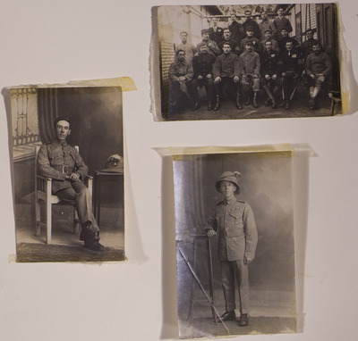 Photographs of Michael Gleeson, including one from his time as a POW