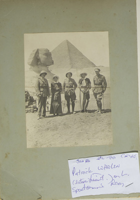 Patrick Whelan with group in Egypt