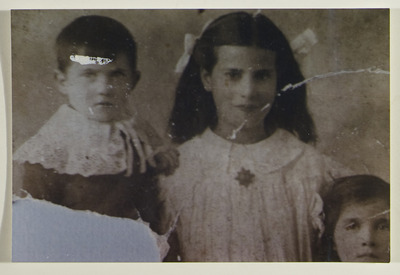 Photo of Patrick's daughter on confirmation day wearing 1st medal 1914