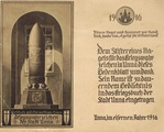 Gedenkblatt: Kriegswahrzeichen der Stadt Unna
