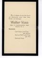 Todesanzeige für Walter Voss