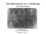 Störnsteiner im 1. Weltkrieg - eine Spurensuche