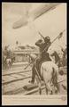 """Postkarte """"Zeppelin wird von Russen abgeschossen"""""""