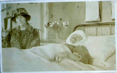 Photograph of Patrick Hamill in Hospital