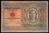 100 Kronen Geldschein von 1912