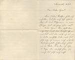 Einer der letzten Briefe an Musketier Hans Glöckler
