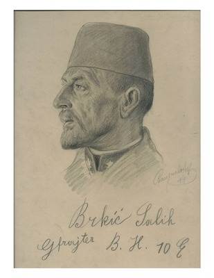 Emil Ranzenhofer pencil sketch of Salih Brkic