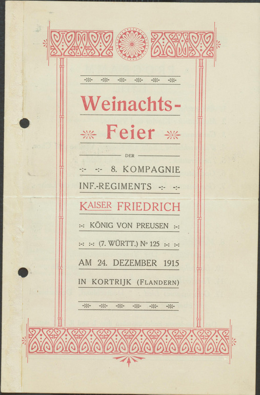 europeana 1914 1918 programm weihnachtsfeier franz wiest. Black Bedroom Furniture Sets. Home Design Ideas