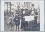 Foto 'Zalig Nieuwjaar 1917' van gezin Drijvers