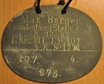 Erkenungsmarke Max Berger