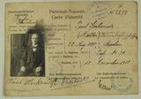Ausweis, Sterbeurkunde, Todesanzeige und militärische Erkennungsmarke von Paul Steckemetz
