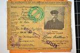 Englischer Besatzungsausweis von Matthias Greis
