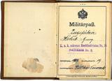 Militärpass von Georg Holub