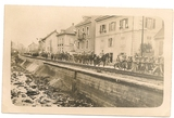 Arrivée de l'armée française à Guebwiller en Alsace en 1918