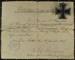 Eisernes Kreuz II. Klasse vom Oberjäger Ernst Hünnebeck