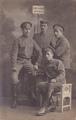 Erinnerungsfoto russischer Kriegsgefangener