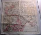 Taschentuchlandkarte der östlichen Kriegsgebiete