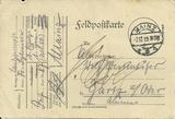 Feldpost des Schulinspektors an meinen Vater Wolf Westenhöfer