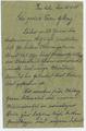 Todesnachricht I - Wilhelm Glenz (1886-1918)