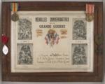 FRBNBU-035  Tableau des médailles de monsieur Ludovic  Audet